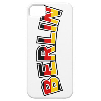 Berlin, text with Germany flag colors iPhone 5 Cases