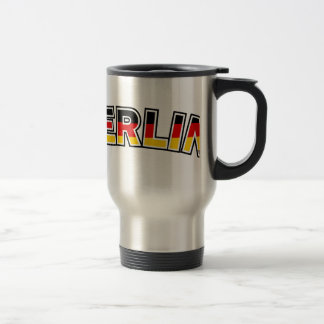 Berlin, text with Germany flag colors Travel Mug