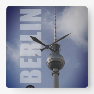 BERLIN TV Tower 001.08 Square Wall Clock