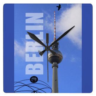 BERLIN TV Tower 01.3 Square Wall Clock
