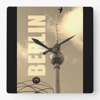 BERLIN TV Tower 02.F.2.4 Square Wall Clock