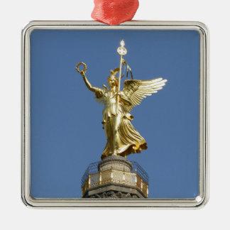 Berlin, Victory-Column 002.01 Silver-Colored Square Decoration