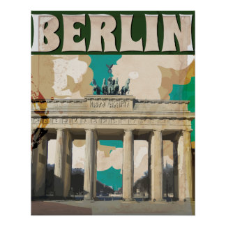 Berlin Vintage Travel Poster