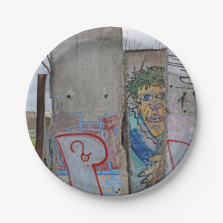 Berlin Wall graffiti art Paper Plate