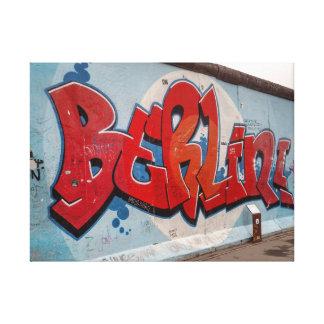Berlin Wall Graffiti Stretched Canvas Print