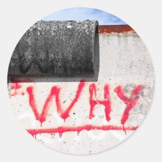 Berlin Wall Graffiti Why Sticker