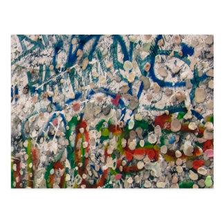 Berlin Wall Gum And Graffiti Postcard