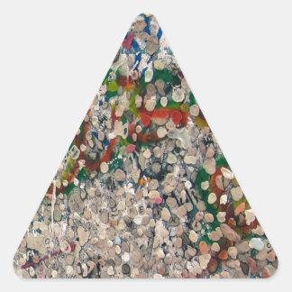 Berlin Wall Gum And Graffiti Triangle Sticker