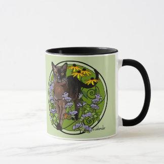 Bermese Cat with Rudbeckia Mug