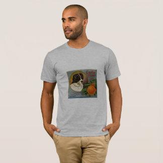 Bermese Mountain Dog Orange Crate Art T-Shirt