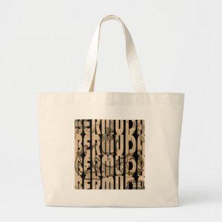 bermuda1662 1 large tote bag