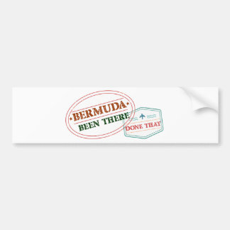 Bermuda Been There Done That Bumper Sticker
