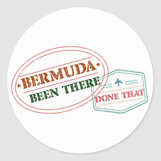 Bermuda Been There Done That Round Sticker