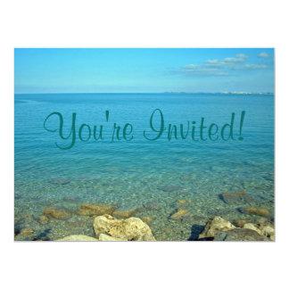 Bermuda Blue Green Waters 17 Cm X 22 Cm Invitation Card