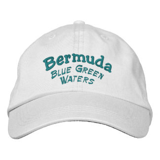Bermuda Blue Green Waters Embroidered Hats