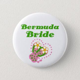 Bermuda  Bride 6 Cm Round Badge