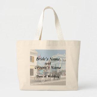 Bermuda - Carriage Ride in Hamilton Wedding Favors Large Tote Bag