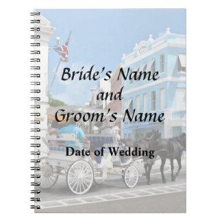 Bermuda - Carriage Ride in Hamilton Wedding Favors Note Book