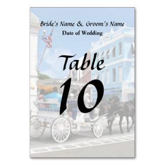 Bermuda - Carriage Ride in Hamilton Wedding Favors Table Card