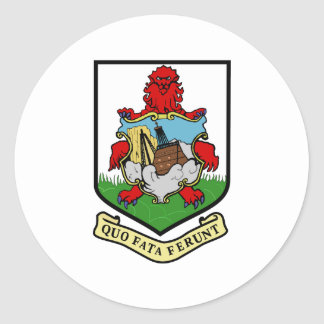 Bermuda Coat Of Arms With Motto Classic Round Sticker