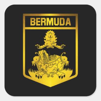 Bermuda Emblem Square Sticker