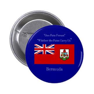 Bermuda Flag and Motto 6 Cm Round Badge