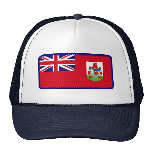 Bermuda flag embroidered effect hat