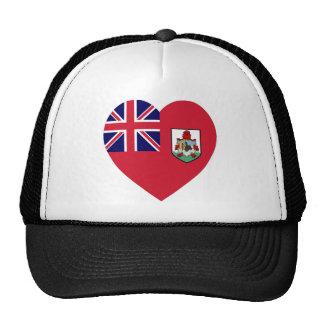 Bermuda Flag Heart Mesh Hats