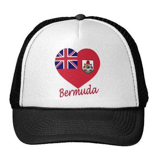 Bermuda Flag Heart Mesh Hat