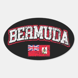 Bermuda Flag Oval Sticker
