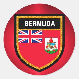 Bermuda Flag Round Sticker