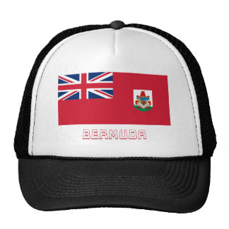 Bermuda Flag with Name Trucker Hat