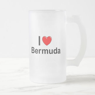 Bermuda Frosted Glass Beer Mug