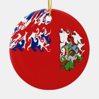 Bermuda Gnarly Flag Christmas Tree Ornament