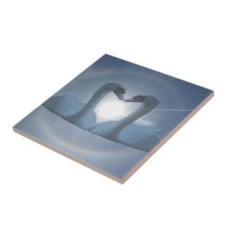 Bermuda Grey Swan Sun's Halo Tile