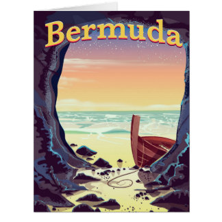 Bermuda Pirate Cave travel poster Card