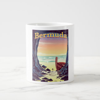 Bermuda Pirate Cave travel poster Large Coffee Mug