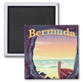 Bermuda Pirate Cave travel poster Magnet