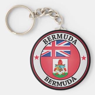 Bermuda Round Emblem Key Ring