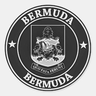 Bermuda Round Emblem Round Sticker