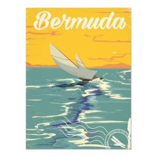 Bermuda Sailing vintage travel poster 17 Cm X 22 Cm Invitation Card