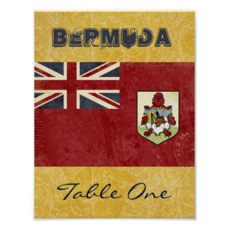 Bermuda Table Number Poster