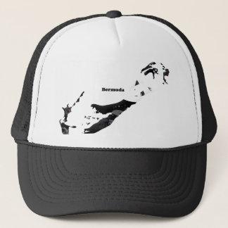 Bermuda Trendy Peace Sign with Bermudian map Trucker Hat