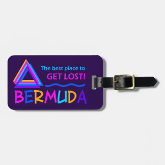 Bermuda Triangle custom luggage tag