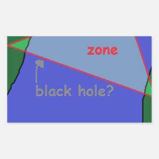 Bermuda triangle: the theory rectangular sticker