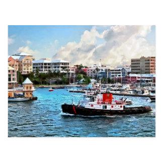 Bermuda - Tugboat Going Into Hamilton Harbour Postcard