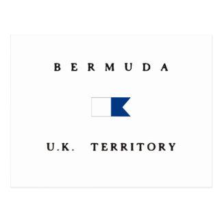 Bermuda UK Territory Alpha Dive Flag Post Card