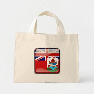 Bermudian glossy flag mini tote bag