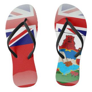 Bermudian glossy flag thongs