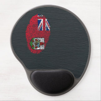 Bermudian touch fingerprint flag gel mouse pad